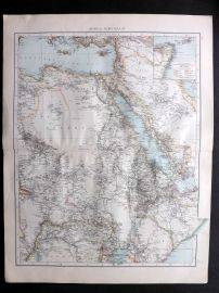 Times 1895 Antique Map. Africa, North-East